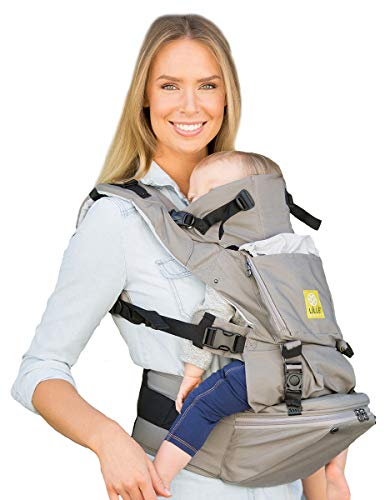 LÍLLÉbaby SeatMe Hip Seat Original Baby Carrier with Structured Seat Insert, Stone