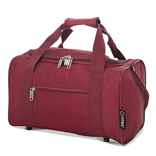 5 Cities 40x20x25 Ryanair Maximum Sized 2020 Under Seat Cabin Holdall Travel Flight Bag – Take The Max on Board! (Wine)