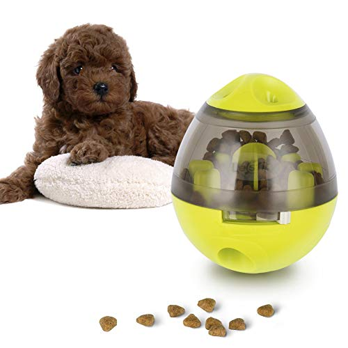 Hundefutter Ball, Lesfit Hund IQ Treat Spender Interaktive Snack Feeding Ball Spielzeug für Hunde Katze, Grün
