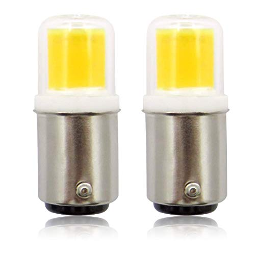 B15 LED-lamp dimbaar 230 V 3 W COB-gloeilamp, 30 W halogeenequivalent SBC kleine bajonet B15D LED-lampen voor naaimachine lampen/afzuigkap, koudwit 6000 K, 2-pack [meerweg]