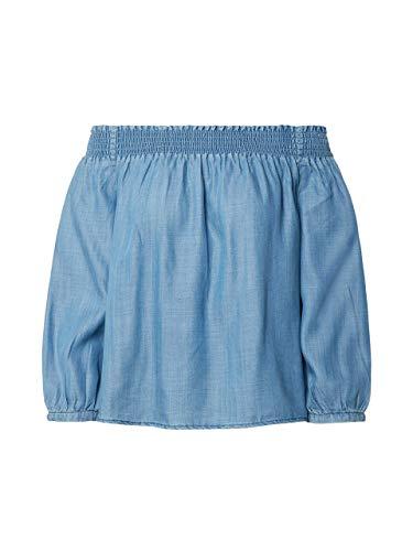 ONLY Damen ONLTAMANTHA 3/4 Off Shoulder DNM TOP Bluse, Blau (Medium Blue Denim Medium Blue Denim), X-Large (Herstellergröße: 42)