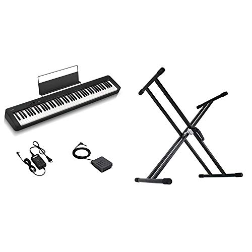 【セット買い】CASIO(カシオ) 88鍵盤 電子ピアノ CDP CDP-S100BK & Dicon Audio KS-020 Keyboard Stand X型キーボードスタンド ダブルレッグ
