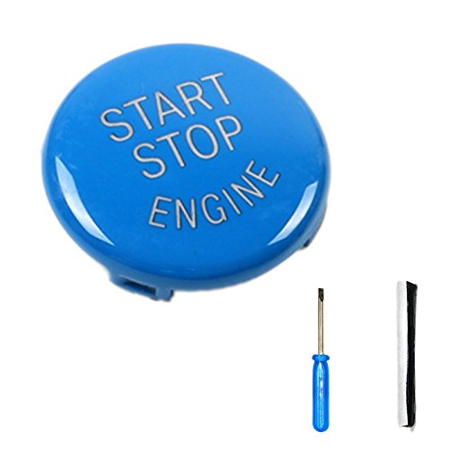 Arotom Blue Car Engine Start Stop Switch Button Replace Cover For E Chassis BMW E60 E70