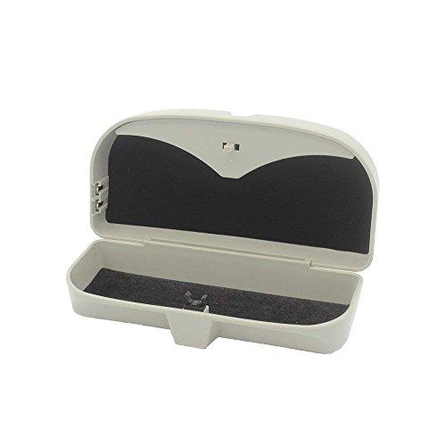 FireAngels Funda universal de gafas para coche, ideal para el almacenamiento de gafas de sol o de ver, incluye tarjetero
