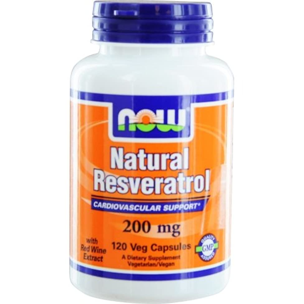 Now - Natural Resveratrol Cardiovascular Support 200 mg- 120 Veg Caps