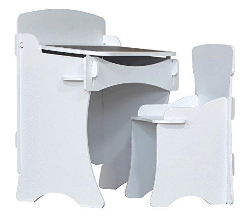 Kidsaw Kinder Bureau et Chaise (Blanc)