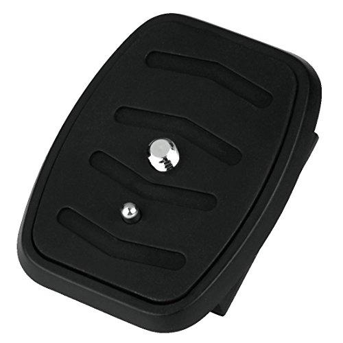 Hama snelkoppelingsplaat voor statieven van de series Star 55-63/Action 165 3D/Gamma 153, 1/4-inch schroefdraad, zwart