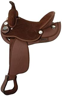 Y&Z Enterprises Synthetic Suede Australian Stock Saddle with Horn Size- 15