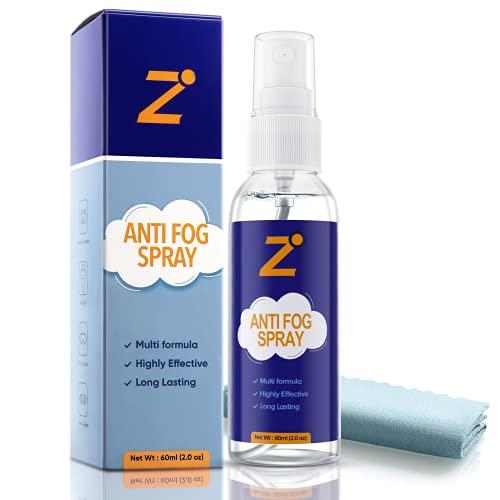 Anti Fog Spray for Glasses 2oz, No Fog for Non-Anti Reflective Lenses, Defogger for Eyeglasses, Paintball Mask, Ski Masks, Swim Goggles, Snorkel Mask