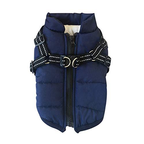 Etophigh Savlot Hundejacke Winterweste Jacken Hundemantel Hundepullover Haustier Skifahren Kostüm Ärmellose Baumwolle Gepolsterte Weste Mit Brustgurt Gurt