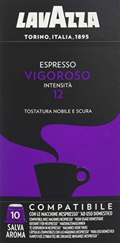 Lavazza - Café Moulu Espresso Vigoroso - 10 Capsules Compatibles Nespresso - Lot de 5