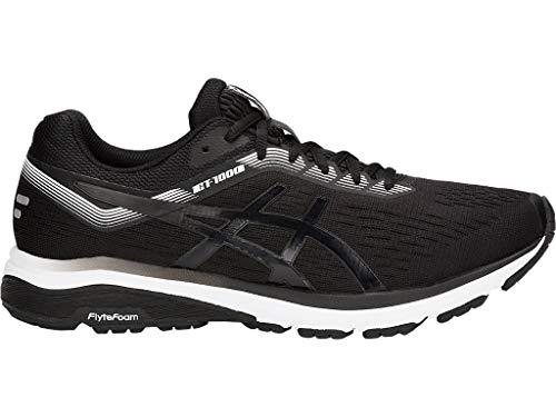 ASICS Men's GT-1000 7 Running Shoes, 9.5M, Black/White