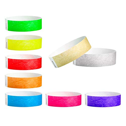 WristCo 3/4 Tyvek Wristbands Super Variety Pack | Lightweight | Durable | Waterproof | Great for Events and Screening | Neon Green, Red, Blue, Orange, Yellow, Pink, Purple, Gold, Silver | 450 Count