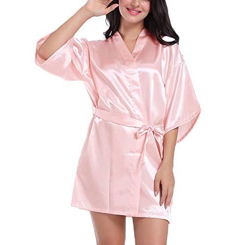 Kristallly Fy Vrouw Kimono badjas Dressing Gowns Badjas Imitatie Zijde Eenvoudige Stijl Sauna Robe Pyjama Nachtkleding Sauna Wellness Spa Party Bruiloft Party