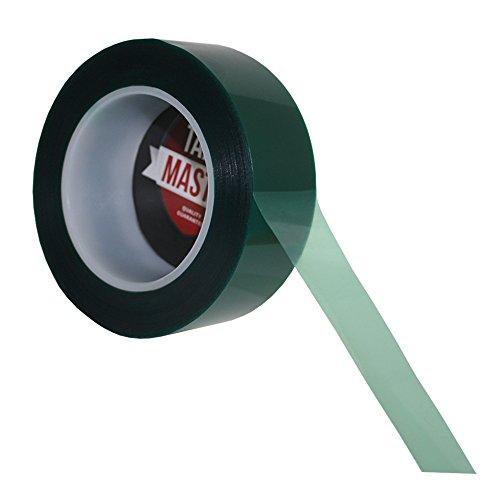 """1.5"""" X 72 Yds - Tapes Master 2 Mil Green Powder Coating Masking Tape"""