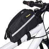 Selighting Bolsa Tubo Bicicleta Bolsas Impermeable para Manillar de Bici del Camino Bolsa Funda Móvil de Bicicleta Montaña BTR Carretera