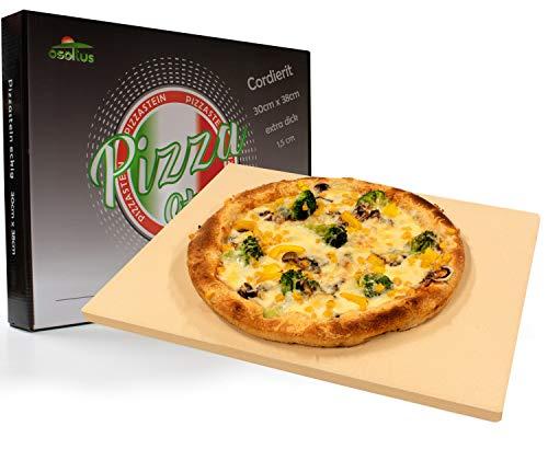 osoltus Profi Pizzastein Cordierit 30cm x 38cm x 1,5cm für Knusperpizza