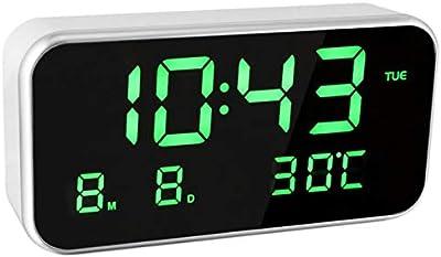 TOOGOO Relojes Digital-Analógico Digitales Reloj Despertador Multifunción Digital Led Temperatura So?oliento Luminova