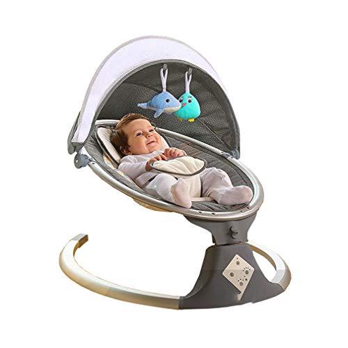 ADM6 Fernbedienung Kinderschaukelstuhl, Sicherheit Fünf-Punkte-Buckle, Anti-Rollover Entwurf, Fünfgang-Anpassung, Intelligent Timing, Schlafen Baby Schaukelstuhl