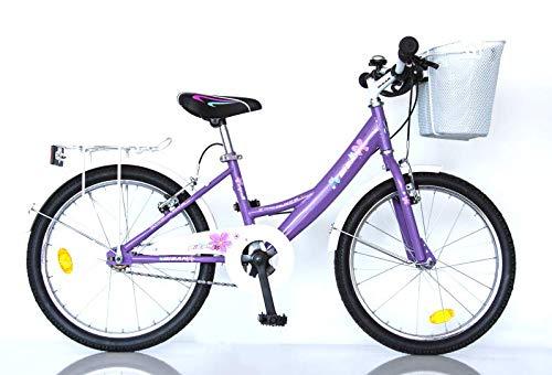 "T&Y Trade 20\"" 20 Zoll Kinder Fahrrad MÄDCHENFAHRRAD KINDERFAHRRAD MÄDCHENRAD Kinder Bike Rad CITYBIKE CITYRAD Beleuchtung Lila 2300"