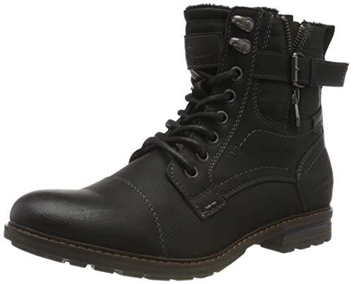 Tom Tailor Mens 9082105 Mid Calf Boot Bootie Boot, Black, 9 UK