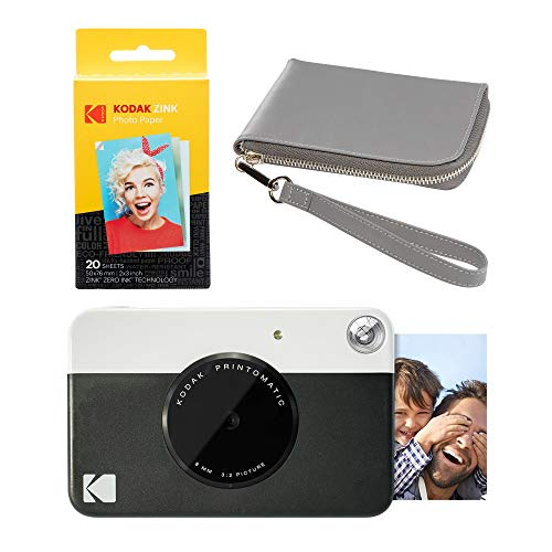 Kodak PRINTOMATIC - Cámara de impresión instantánea (Negro), color gris