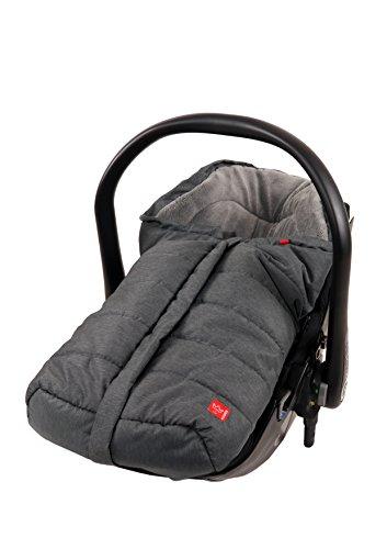 Kaiser 65338325 Babyschalenfußsack Ella, schwarz melange