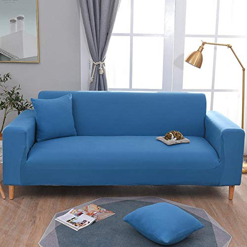 Fsogasilttlv Stretch Couch Cover 3 Seater,Elastic Solid Sofa Cover Stretch All-Inclusive for Living Room, Sofa Couch Cover Arm Chair Cover 190-230cm(1pcs)