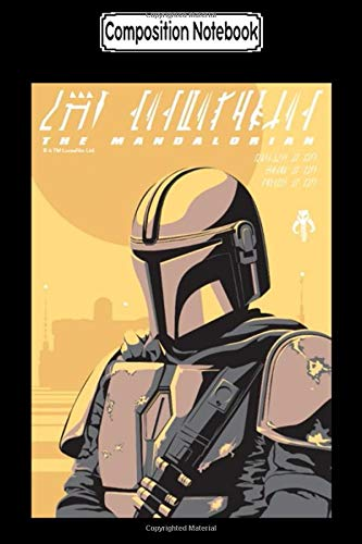 Composition Notebook: The mandalorian canons of honor graphic Fan Disney Notebook Journal/Notebook Blank Lined Ruled 6x9 100 Pages