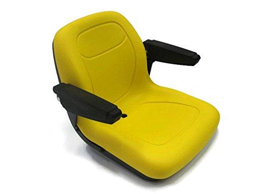 JD - Sedile per tosaerba, con schienale alto e braccioli, colore: Giallo