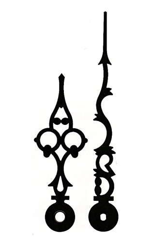 Zeigersatz antiker Stil Louis XVI mit Eurolochung Schwarz 100mm Junghans 817 838 Zeiger