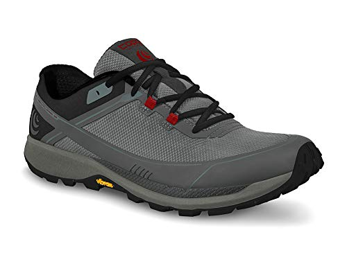 Topo Athletic Men's Runventure 3 Lightweight Trail Running Shoes, Grey/Red, Size 11.5