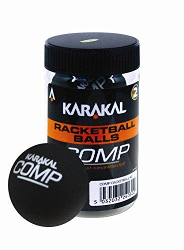 Karakal Bolas de Raqueta Unisex para Adultos (competición), Tubo de 2 - Negro