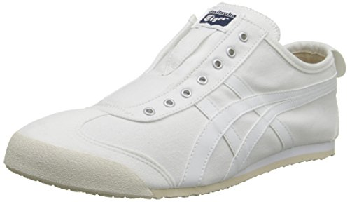 ASICS - - Onitsuka Tiger Mexico pour Hommes 66 Slip-on Shoes, 46.5 EU, White/White