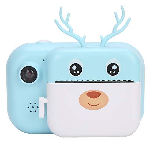 Lazmin112 Cámara de impresión para niños, cámara Digital con Impresora térmica instantánea HD 1080P con Pantalla IPS de 2,4 Pulgadas, admite Tarjeta de Memoria de hasta 32 GB, Regalos para niños