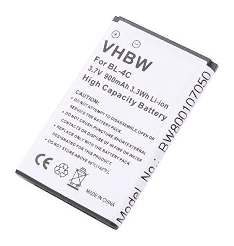 vhbw Li-Ion Akku 900mAh (3.7V) passend für Handy Telefon Smartphone Doro Primo 401