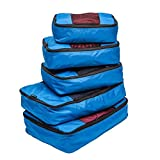 TravelWise Packing Cube System - Durable 5 Piece Weekender+ Luggage...