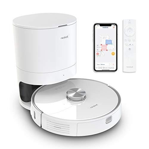 Neabot NoMo Saugroboter mit automatischer Absaugstation,WLAN Roboterstaubsauger,Laser-Navigation, intelligente Kartierung,APP/Alexa/Google Steuerung