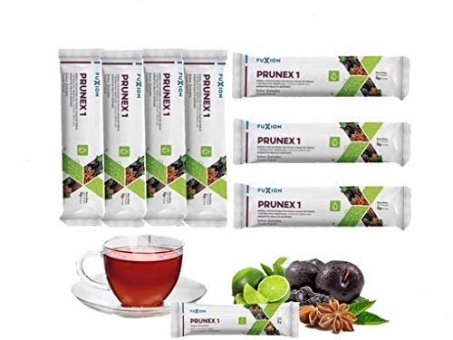FuXion Prunex 1 Detox Tea Instant w. Fiber for Colon Cleanse - Relieve Symptoms of Constipation, Liberate The Transit in Digestive System - 5 Grams per Serving - 7 Sachets Trial Pack - 1 Week Supply