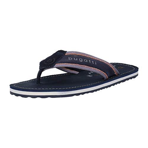 bugatti Herren 323944806969 Sandalette Zehentrenner , Dark Blue/ Light Blue , 46 EU