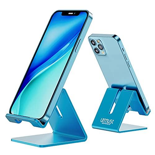 Urmust Z1 Handy-Ständer aus Aluminium für den Schreibtisch, robust, tragbar, universell, kompatibel mit Allen Smarthones, Huawei, iPhone 13,12,X, 8, 7, 6 Plus, 5, für Büro, als Deko
