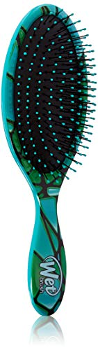 Wet Brush Original Detangler Hair Brush - Green Stained Glass - Exclusive Ultra-soft IntelliFlex Bristles - Glide Through Tangles With Ease For All Hair Types - For Women, Men, Wet And Dry Hair