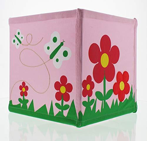 Trä Present Nino & Ideas Lampenschirm Flower Garden rosa