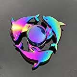 CCAY Spinning Top Zinc Alloy Fidget Spinner Gyro Toys Decompression Small Toy R188 Metal Bearing Rainbow Hand Spinner Focus Toys for Adult Kids
