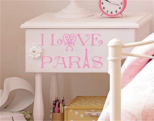 wandaufkleber küche kaffee Ich liebe Paris für Wohnzimmer Schlafzimmer