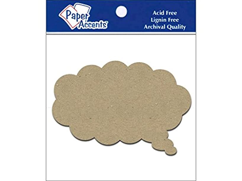 Accent Design Paper Accents Chip Shape 8pc Thought Bubble ChipShapeThoughtBubl