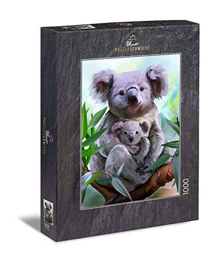 Ulmer Puzzleschmiede - Puzzle Koala - Bella Foto di Una Madre Koala con Neonato Koala
