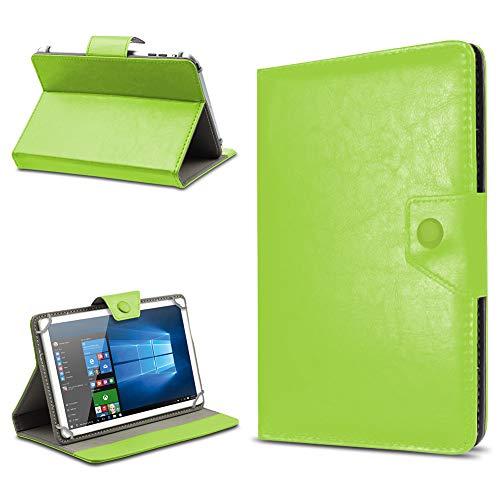 UC-Express Tasche Schutz Hülle für TrekStor SurfTab xintron i 10.1 Tablet Hülle Stand Cover Farbauswahl, Farben:Grün, Tablet Modell für:Toshiba Encore 2 10.1