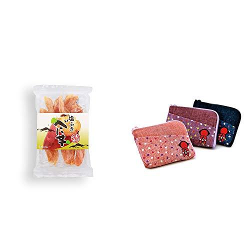 [2点セット] 塩ふき べに芋(250g)・おねがいさるぼぼ ポーチ(小) 【ピンク】