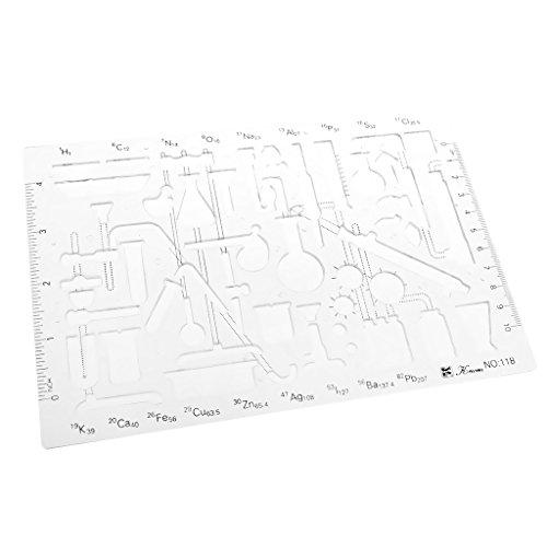 Kunststoff Multifunktionale Zeichnungsvorlage Zeichnung Lineal Technisches Zeichnen Abrundungsschablone - 1